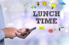 LUNCH TIME Royalty Free Stock Photos