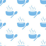 Lunch time seamless pattern Royalty Free Stock Images