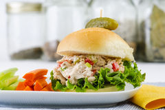 Lunch Time Tuna Salad Sandwich Royalty Free Stock Photography