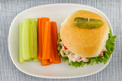 Lunch Time Tuna Salad Sandwich Stock Photo