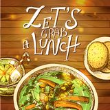 Lunch- vector illustration Royalty Free Stock Photo
