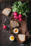 Lunch with vegetables and bread Royalty Free Stock Photography