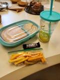 Lunch voor vandaag stock afbeeldingen