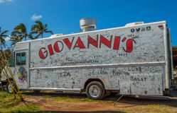 Lunch Wagon. Giovannis Lunch Wagon, fresh Kahuku shrimp, located on the North Shore, Kahuku, Hawaii Stock Images