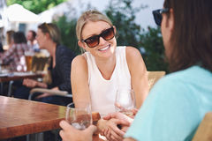 Lunch wine in cafe Stock Photography