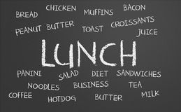 Lunch word cloud Royalty Free Stock Photography