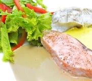 Lunch z białorybem i łososiem Zdjęcia Royalty Free