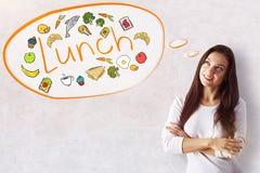 Lunchbegrepp arkivfoto