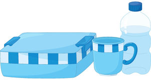 Lunchbox. Illustration of a school lunchbox and drink Royalty Free Stock Images