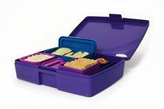 Lunchbox con alimento fotografia stock libera da diritti