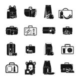 Lunchbox food icons set, simple style. Lunchbox food icons set. Simple illustration of 16 lunchbox food vector icons for web Stock Image