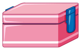 Lunchbox in pink color vector illustration