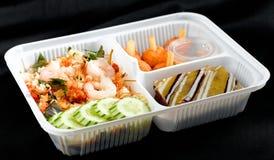 Lunchbox tailandese di stile dell'alimento Fotografia Stock Libera da Diritti
