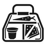 Lunchboxikone des strengen Vegetariers, einfache Art lizenzfreie abbildung
