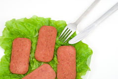 Luncheon meat Royalty Free Stock Photo