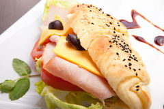 Luncheon sandwich with cheese Royalty Free Stock Photo