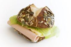 lunchmeat serowa zdrowa kanapka Fotografia Stock