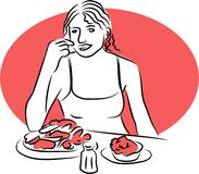 Lunchtime royalty free illustration