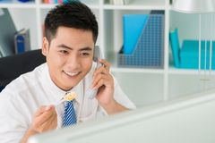 Lunchtime call Royalty Free Stock Photo