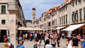 Lunchtime Crowds in Medieval Dubrovnik, Croatia stock footage