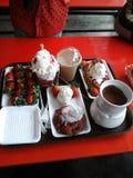 Lunchu śniadaniowy obiadowy karmowy cudowny mądrze Obrazy Royalty Free