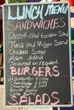 lunchu deskowy menu Fotografia Royalty Free
