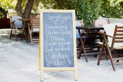 Lunchu i napoju stół Zdjęcia Royalty Free