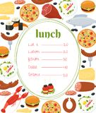 Lunchu menu szablon Obraz Royalty Free