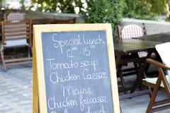 Lunchu stół Zdjęcia Stock