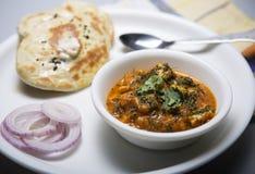 Lunchu talerz dla północnych indyjskich mieszkanów pendżabu Zdjęcie Royalty Free