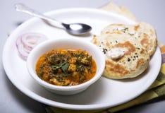 Lunchu talerz dla północnych indyjskich mieszkanów pendżabu Obrazy Royalty Free