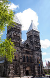 Lund Cathedral 01. A view of the very impressive looking Lund cathedral in Sweden Stock Photo