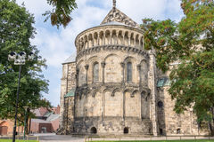 Lund Cathedral, apse from the east side. Lund cathedral from the east side Royalty Free Stock Photography
