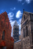 Lund Cathedral HDR 02. A high dynamic range view of the very impressive looking Lund cathedral in Sweden Stock Photography