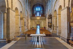 Lund cathedral interior. Altar in the center of Lund Cathedral Stock Photography
