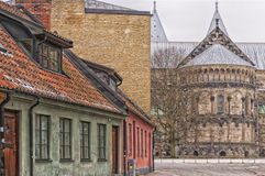 Lund Cathedral Street Scene Royalty Free Stock Photo