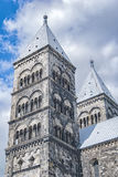 Lund Cathedral in Sweden Stock Image