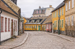Lund Cobbled Street Scene Stock Images