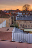 Lund roofs. View of the roofs ot Lund, Sweden, at sunset Stock Photography