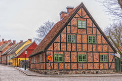 Lund Side Street Scene Royalty Free Stock Photography