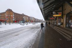 Lund Station Winter Stock Images