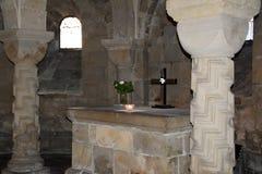 Lund, Svezia 7 novembre 2018 Cripta nella cattedrale di Lund fotografie stock libere da diritti