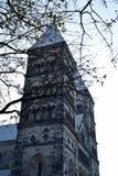 Lund, Svezia 7 novembre 2018 L'esterno della cattedrale di Lund immagini stock