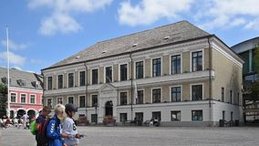 Lund Town Hall Timelapse stock video footage
