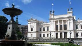 Lund Universitair Zweden stock foto