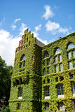 Lund university library 01. A very old and grand ivy covered building on the campus grounds of Lund university in Sweden stock images