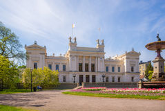 Lund university in springtime. The main building of Lund university, Sweden, founded in 1666 Royalty Free Stock Photography