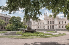 Lund University. A very old and grand white building on the campus grounds of Lund university in Sweden Royalty Free Stock Photo