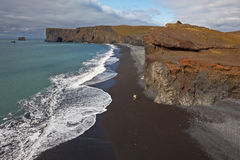 Lundadrangur Rock Arch in Dyrholaey, Iceland Stock Images
