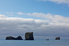 Lundadrangur Rock Arch in Dyrholaey, South Stock Images